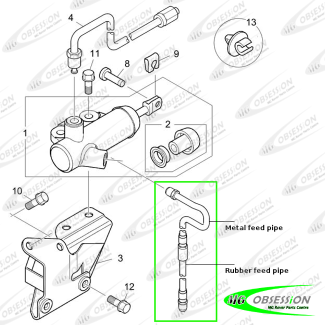 CLUTCH SLAVE CYLINDER METAL FEED PIPE