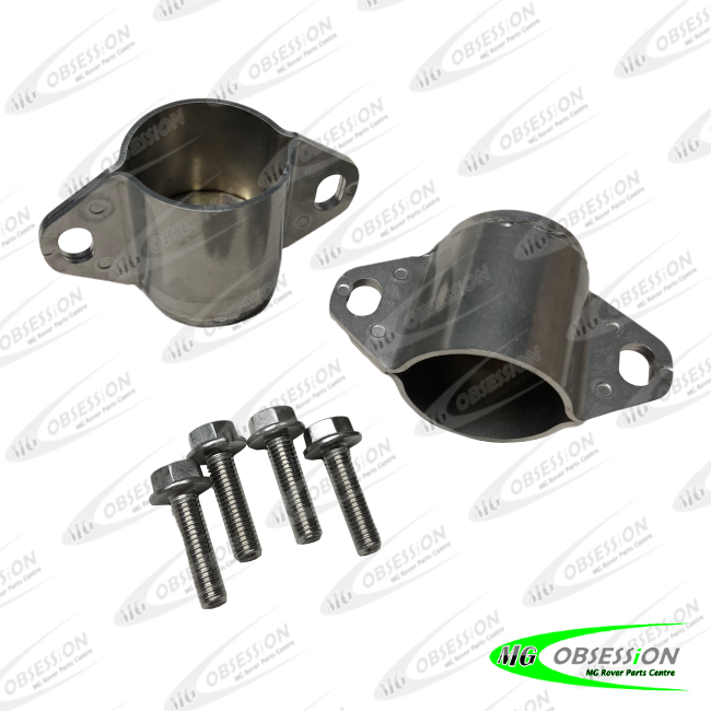 SUBFRAME MOUNT SET - FRONT (STAINLESS STEEL)
