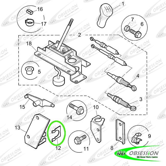 GEAR CABLE END FIXING CLIP