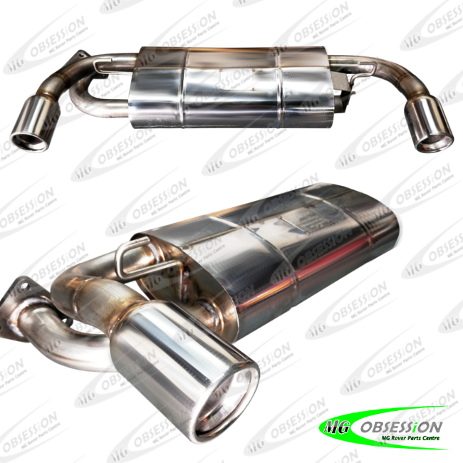 EXHAUST REAR SILENCER (STAINLESS STEEL - ROUND TIPS )