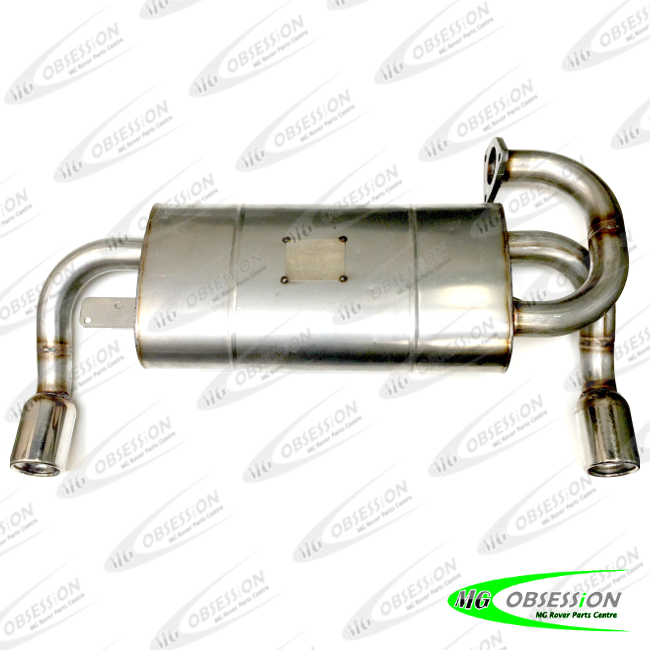 EXHAUST REAR SILENCER (STAINLESS STEEL - ROUND TIPS)