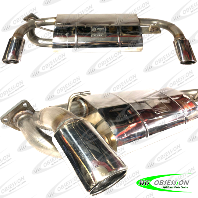 EXHAUST REAR SILENCER (STAINLESS STEEL - OVAL TIPS )