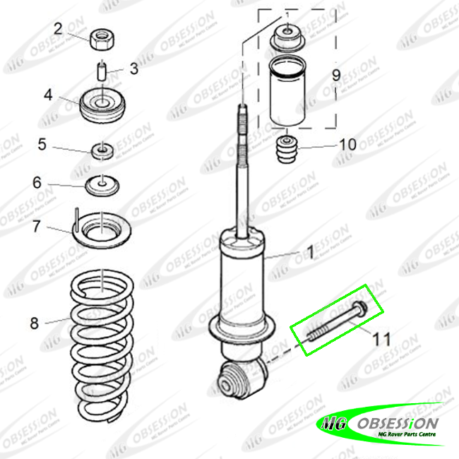 SHOCK ABSORBER - FRONT LOWER BOLT (MG TF)
